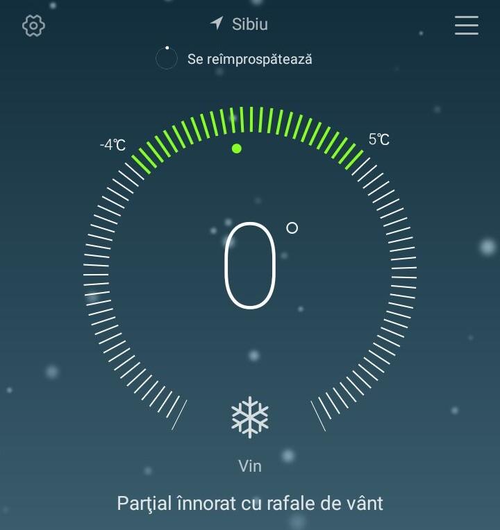 vreme 0 grade sibiu
