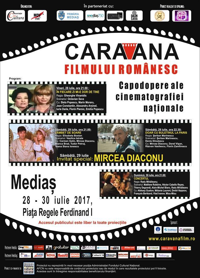 Caravana Filmului Romanesc ajunge la Medias