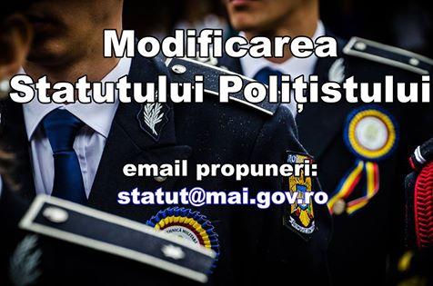 statut politist