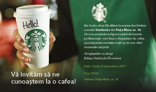 Starbucks Sibiu se deschide vineri